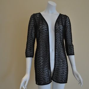 Jackets & Blazers - Knitted Black Cover Up